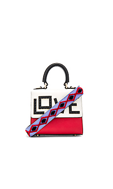 Micro Alex Black Widow Bag en Red, White, & Sky Blue
