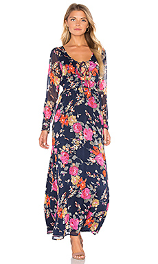 Nova Dress in Night & Persimmon Wash Floral