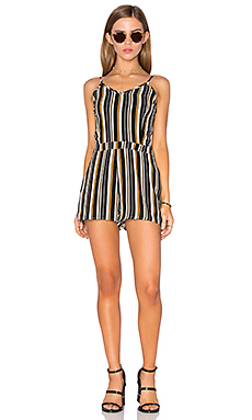 Fitted Romper – Navy, White, & Mango Stripe