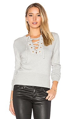 Laura Tie Up Top in Grey