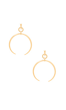 Oversized Crescent Hoop Earrings en Vieil Or