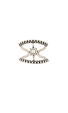 The Versailles T Bar Ring in Silver Ox