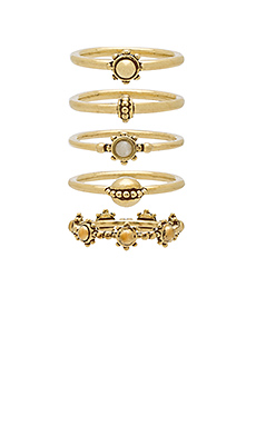 The Baroque Stack Ring Set – 复古金