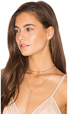 The Rococo Choker + Lariat en Or Rose