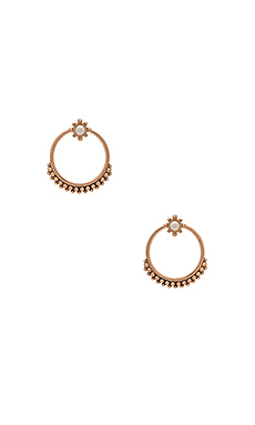 The Versailles Two Piece Hoop en Or Rose