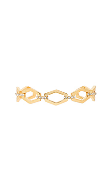 Chain Link Bangle Bracelet en Vieil Or