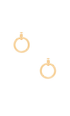 Evil Eye Statement Hoop Earrings en Vieil Or