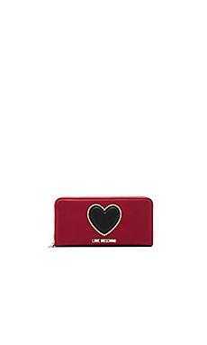 Zip Around Wallet in Red