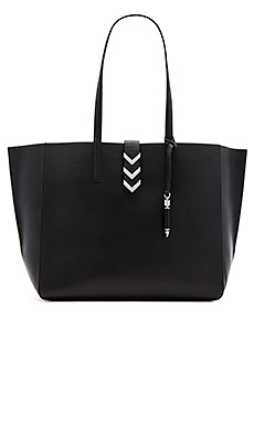 Aggie Tote Bag in Black & Gunmetal