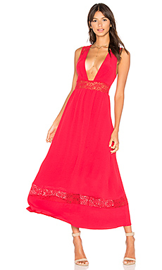 Pinewood Maxi Dress in Red