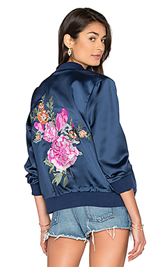 x REVOLVE Rose Bowl Jacket in Navy