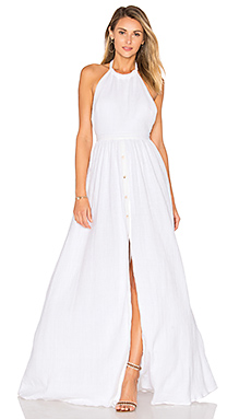 Organic Cotton Backless Dress en Blanc