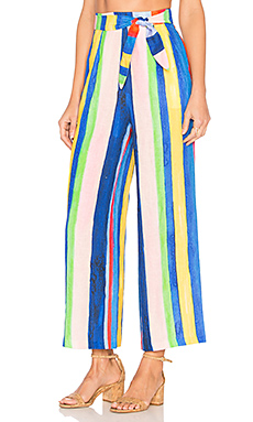 Tie Front Pant in Multi