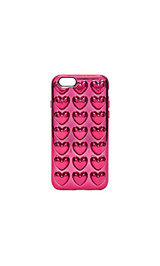Metallic Heart iPhone 6S Case en Magenta