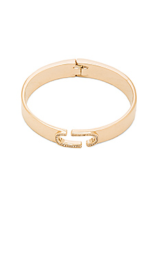 Icon Crystal Hinge Cuff in Crystal & Gold