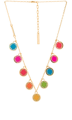 Logo Disc Statement Necklace – 七色彩虹色