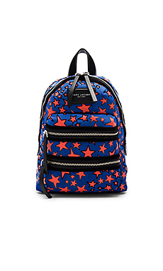 SAC À DOS MINI FORMAT FLOCKED STAR PRINTED BIKER
