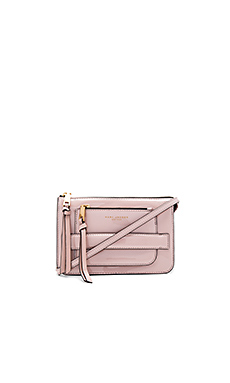 Madison Patent Crossbody Bag en Rose Smoke