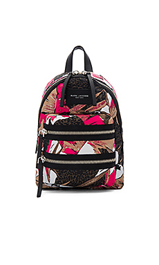 Palm Printed Biker Mini Backpack en Imprimé Rose