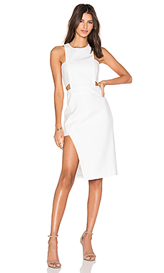 Bandeau Midi Dress in Ivory