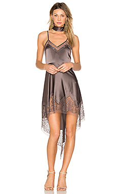 Lace Inset Dress in Truffle