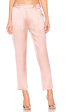 Pleat Trouser en Dark Blush