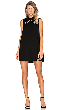 Collar Trapeze Dress in Black