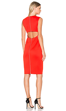 Cut Out Back Midi Dress in Flame