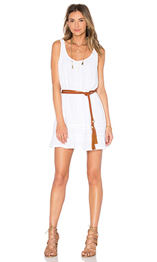 Double Gauze Scoop Neck Tank Dress in White
