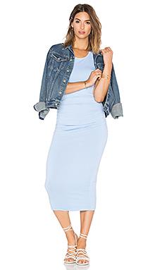 Shirred Midi Dress – 水蓝色