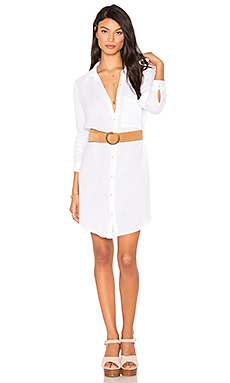 Button Shirt Dress en Blanc