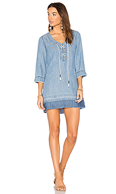 ROBE EN DENIM À LACETS
