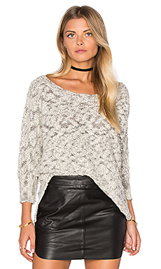 Boatneck Dolman Sweater in Ivory & Black