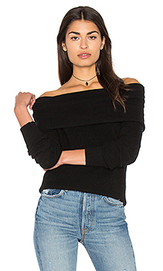 Off The Shoulder Tunic in Black