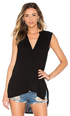 Double Gauze Tank in Black