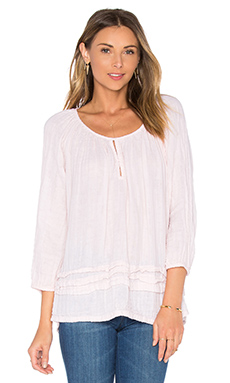 Double Gauze Keyhole Top en Bloom
