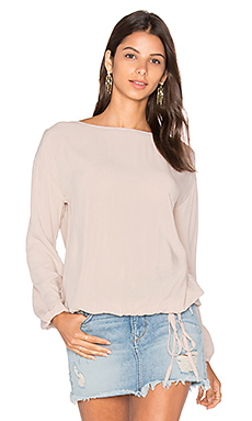 Long Sleeve Blouse in Chai