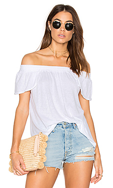 Luxe Off Shoulder Tee – 白色
