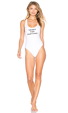 MAILLOT DE BAIN 1 PIÈCE SORRY FOR PARTYING