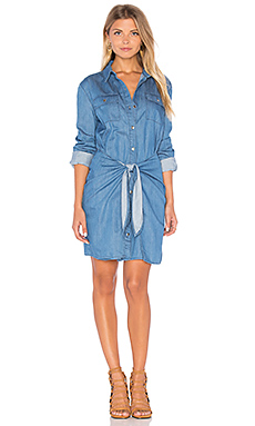 Jericho Shirt Dress in Mid Blue