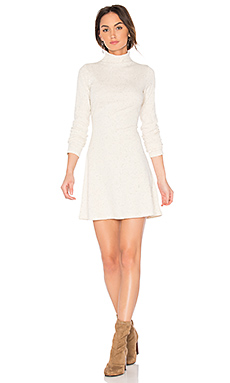 Rib Funnel Neck Dress – Natural Marle