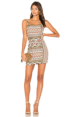 Temple Button Up Mini Dress in Multi