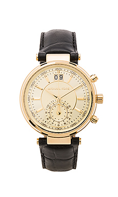 Sawyer Watch in Gold & Black