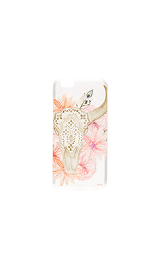 Boho Skull iPhone 6/6s Case en Rose
