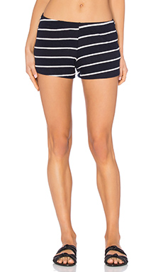 Eddy Sweatshort en Navy Stripe