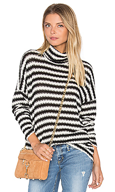 Marshall Striped Turtleneck en Crème & Noir