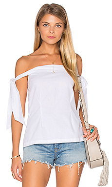 New York Shoulder Top en Blanc