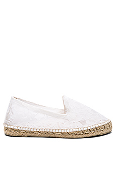 Paris Double Sole Espadrille en Blanc