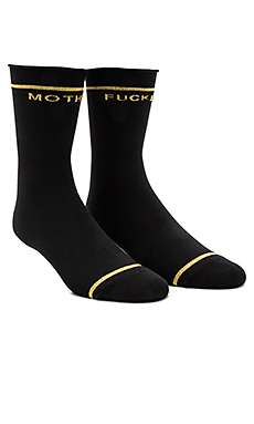 The Bobby Socks and Gold in Black