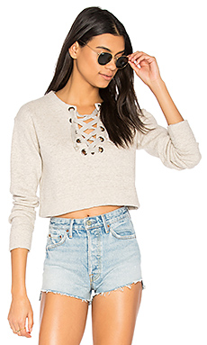 SWEAT CROPPED AVEC LAÇAGE EASY